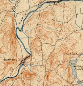 Battenville NY 1901 Topo Map